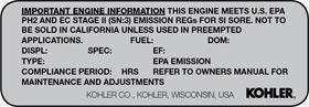 Know Your Engine Kohler Identification